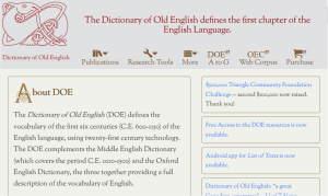 The Dictionary of Old English Corpus